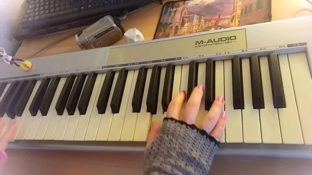 Elaizz - Silent Night (Piano Cover) _ First try to play it on piano by just hearing -)